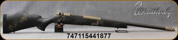 "Weatherby - 6.5Creedmoor - Mark V Carbonmark - Black w/Grey/Tan Sponge Accent Fiberglass Stock/Coyote Tan Cerakote, 22"" Threaded(5/8×24) Barrel, 4+1 Capacity - Mfg# MCM01N65CMR4B"