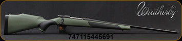 """Weatherby - 30-06Sprg - Vanguard Synthetic Green - Bolt Action Rifle - Green Monte Carlo Griptonite Synthetic Stock w/Black Touch Panels/Matte Blued Finish, 24""""Barrel #2 Contour, 5 Round Hinged Floorplate, Mfg# VGY306SR4O"""