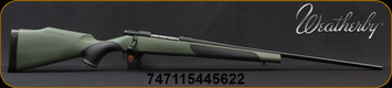 """Weatherby - 240WbyMag - Vanguard Synthetic Green - Bolt Action Rifle - Green Monte Carlo Griptonite Synthetic Stock w/Black Touch Panels/Matte Blued Finish, 24""""Barrel #2 Contour, 5 Round Hinged Floorplate, Mfg# VGY240WR4O"""