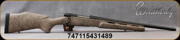 "Weatherby - 6.5Creedmoor - Vanguard Weatherguard H-Bar - Tan w/Black Web Hand-Laminated Composite Monte Carlo Stock w/Vented Forend/Matte Bead-Blasted Blued Finish , 20"" #3 contour, threaded heavy barrel,  Mfg# VDN65CMR0T"