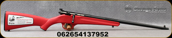 "Savage - 22LR - Rascal - Youth Single Shot - Bolt Action Rifle - Red Synthetic Stock/Blued Finish, 16.25"" Barrel, Mfg# 13795"