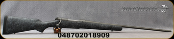 """Winchester - 264WM - Model 70 Extreme Weather Tungsten - Bolt Action Rifle - Black w/Grey Web Bell & Carlson Synthetic Stock/Tungsten Cerakote Finish, 26""""Fluted, Threaded Barrel, 3 Round Hinged Floorplate, Mfg# 535238229"""
