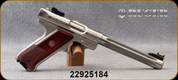 """Consign - Ruger - 22LR - Mark III Hunter - Cocobolo Grip/Stainless Fluted Barrel, 6.875""""Barrel, Mfg# 10118, c/w 2 magazines - Only 150 rounds fired - in original case"""