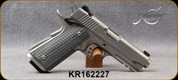 """Consign - Kimber - 45ACP - Stainless TLE/RL II - Textured G10 Grips Grey w/Black Grappler Tactical Grips/Satin Silver Stainless Finish, 4.25""""Barrel, Aluminum, match grade skeletonized trigger, c/w spare G10 Black Polymer Grips - only 300 rounds fired"""