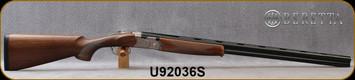 "Beretta - 20Ga/3""/30"" - Model 686 Silver Pigeon I - O/U - Oil-Finished Walnut Stock/scroll-engraved receiver/Cold Hammer Forged Barrels, 5pc. Mobilchoke, Mfg# 3W18P1L300661, S/N U92036S"