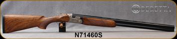 "Beretta - 12Ga/3""/28"" - Model 693 Field - O/U - Oiled High-Grade Wood Stock/Engraved Receiver/Blued, Steelium Barrels, OCHP Chokes, Mfg# 4WC6P3L200661, S/N N71460S"