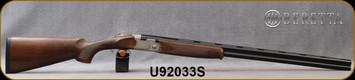 "Beretta - 20Ga/3""/30"" - Model 686 Silver Pigeon I - O/U - Oil-Finished Walnut Stock/scroll-engraved receiver/Cold Hammer Forged Barrels, 5pc. Mobilchoke, Mfg# 3W18P1L300661, S/N U92033S"