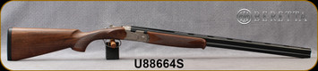 """Beretta - 20Ga/3""""/28"""" - Model 686 Silver Pigeon I - O/U - Walnut Stock/scroll-engraved receiver/Blued Barrels, 6x6Rib, Mfg# J686322, S/N U88664S"""