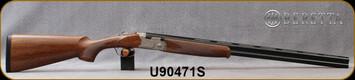 """Beretta - 20Ga/3""""/28"""" - Model 686 Silver Pigeon I - O/U - Walnut Stock/scroll-engraved receiver/Blued Barrels, 6x6Rib, Mfg# J686322, S/N U90471S"""
