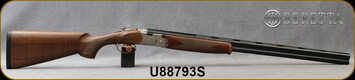 """Beretta - 20Ga/3""""/28"""" - Model 686 Silver Pigeon I - O/U - Walnut Stock/scroll-engraved receiver/Blued Barrels, 6x6Rib, Mfg# J686322, S/N U88793S"""