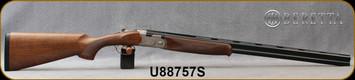 """Beretta - 20Ga/3""""/28"""" - Model 686 Silver Pigeon I - O/U - Walnut Stock/scroll-engraved receiver/Blued Barrels, 6x6Rib, Mfg# J686322, S/N U88757S"""