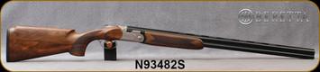 "Beretta - 20Ga/3""/28"" - Model 691 Vittoria Field - O/U - Grade 2.5+  Walnut Pistol Grip w/Semi-Monte Carlo/Floral Renaissance Style Engraved Nickel Receiver/OBHP Steelium Barrels, OCHP Choke, 13.78LOP, Mfg# 4WB8PZ2200761, S/N N93482S"