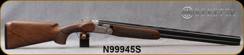 "Beretta - 12Ga/3""/28"" - Model 691 Vittoria Field - O/U - Grade 2.5+  Walnut Pistol Grip w/Semi-Monte Carlo/Floral Renaissance Style Engraved Nickel Receiver/OBHP Steelium Barrels, OCHP Choke, 13.78LOP, Mfg# 4WB6PZ2200761, S/N N99945S"
