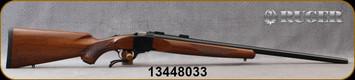 """Ruger - 243Win - 1-V - Varminter - American Walnut Stock/Satin Blued, 26""""Heavy Barrel, 1:7.7"""" Twist, MFG# 21300, S/N 13448033"""