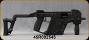 """Consign - Kriss - 45ACP - Vector SBR Gen 1 - Semi-Auto - RESTRICTED - Black Synthetic Adjustable Stock/Black Nitride Finish, 5.5""""Barrel, Full length picatinny top rail, c/w original manual, (2) magazines - Only 100 rounds fired"""