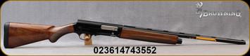 "Browning - 16Ga/2.75""/28"" - Model A5 Lighting Sweet Sixteen - Kinematic Drive Semi-Auto Shotgun - Gloss finish, Lightning-Style Turkish walnut Stock/Gloss black anodized receiver/Blued Barrel, 3 Invector-DS choke tubes, Mfg# 0119015004 - Stock Image"