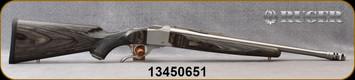 "Ruger - 450BM - K1-B Standard - Black/Grey Laminate Stock/Satin Stainless, 20""Barrel, 1""Ruger Rings, Mfg# 21304, S/N 13450651"