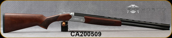"Huglu - 20Ga/3""/26"" - Hawk - O/U - Extractors - Turkish Walnut/Hand-Engraved Silver Receiver/Chrome-Lined Barrels, 8mm Vent Rib, 5pc. Mobile Choke, SKU: 8682109404983, S/N CA200509"