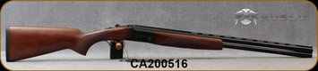 "Huglu - 20Ga/3""/26"" - Hawk - O/U - Turkish Walnut/Black receiver w/Hand-Engraving/Chrome-Lined Barrels, Extractor, 5pc.Mobile Choke, SKU# 8681715390710, S/N CA200516"