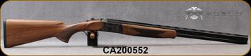 "Huglu - 20Ga/3""/26"" - 103DE - O/U w/Ejectors - Grade AA Turkish Walnut w/Schnabel Forend/Case Coloured Receiver/Chrome-Lined Barrels, 5pc. mobile choke, SKU# 8681715394688-2, S/N CA200552"