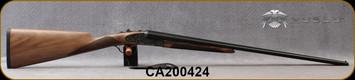 "Huglu - 410Ga/3""/26"" - 200AC Mini - SxS Single Trigger - Grade AA Turkish Walnut English Grip/Case Hardened Receiver w/Gr5 Hand Engraving/Chrome-Lined Barrels, Fixed Choke (F,IM), SKU: 8682109405362-2, S/N CA200424"