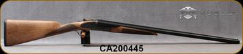 "Huglu - 12Ga/3""/28"" - 200ACE - SxS Single Trigger - Ejectors - Grade AA Turkish Walnut English Grip Stock/Case Hardened Receiver w/Gr5 Hand Engraving/Chrome-Lined Barrels, 5pc. Mobile Choke, SKU# 8682109405355-2, S/N CA200445"