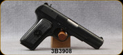 """Consign - Tokarev - 7.62x25mm - TT-33 - Semi-Auto - Black Finish, 4 3/8""""Barrel, Manufactured in 1951 - c/w Leather Holster, 2 magazines - Only 100 rounds fired"""