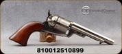 """Taylor's & Co - 38Spl - 1851 Navy C. Mason Revolver - Walnut Grips/Engraved Receiver/Nickel Finish, 5.5""""Barrel, Blade Front Sight, Mfg# 0926N00"""