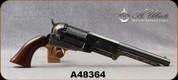 "Consign - Uberti - 44Cap&Ball - Walker Black Powder Revolver - Walnut Grips/Case Hardened Frame/Brass Trigger Guard/Engraved Blued Cylinder & 9""Barrel - Less than 50 rounds fired - in original box"