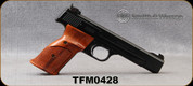 """Used - Smith & Wesson - 22LR - Model 41 - Single Action Semi-Auto - Wood Target Grips/Blued Carbon Steel, 5.5""""Barrel, 2 magazines - in original box"""