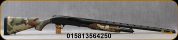 "Mossberg - 12Ga/3""/28"" - Model 500 Field Woodland - Pump Action - US Woodland Camo Polymer Stock/Black Finish, LPA trigger system, 5rd Capacity, Mfg# 56425"