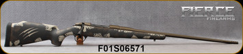 "Fierce - 6.5PRC - Edge - Midnight Brown/Tan Carbon Finish Stock/Midnight Bronze Cerakote Finish, 24""Fluted & Threaded Barrel, Titanium Muzzle Brake, extra magazine, S/N F01S06571"