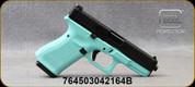 "Glock - 22LR - G44 - Semi-Auto - Teal Blue Cerakote frame/Blued, 4.17""Barrel, Adjustable Sights, c/w Spare backstrap(Black), (2)10rd magazines, Mfg# UA445X101B"