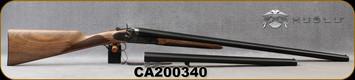 "Huglu - 12Ga/3""/30"" & 20"" - 201HRZ - Sidelock Hammer Gun - 2 Barrel Set - Double Trigger SxS - Grade AA Turkish Walnut English Grip/Case Hardened/Chrome-Lined Barrels, SKU: 86817443089392BE, S/N CA200340"