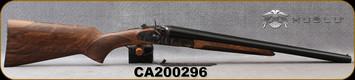 "Huglu - 12Ga/3""/20"" - 201HRZ - Sidelock Hammer Gun - Grade AA Standard Grip Turkish Walnut/Case Hardened Receiver/Chrome-Lined Barrels, Double Trigger, SKU# 8681715392202-2, S/N CA200296"
