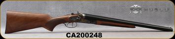 "Huglu - 12Ga/3""/20"" - 201HRZ - Sidelock Hammer Gun - Grade A Standard Grip Turkish Walnut/Case Hardened Receiver/Chrome-Lined Barrels, Double Trigger, SKU# 8681715392202, S/N CA200248"