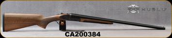"Huglu - 20Ga/3""/26"" - 200AC - SxS Single Trigger - Grade AA Turkish Walnut/Case Hardened Receiver w/Gr5 Hand Engraving/Blued Barrels, 5pc. Mobile Choke, SKU# 8682109405331-2, S/N CA200384"