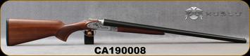 "Huglu - 12Ga/3""/28"" - 200AC - SxS Single Trigger - Select Turkish Walnut/Silver Receiver w/Gr5 Hand Engraving/Blackened Chrome Finish/Chrome-Lined Barrels, 5pc. Mobile Choke, SKU# 8681715398402, S/N CA190008"