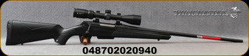 "Winchester - 6.5PRC - XPR Scope Combo - Bolt Action Rifle - Black Composite Stock/Matte Blued Perma-Cote, 24""Barrel, 3 round Detachable Magazine, Vortex Crossfire II 3-9x40 with BDC reticle, Mfg# 535705294"