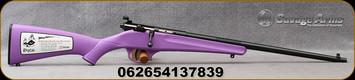 "Savage - 22S/L/LR - Rascal - Youth Single Shot - Bolt Action Rifle - Purple Synthetic Stock/Blued Finish, 16.25"" Barrel, Mfg# 13783"