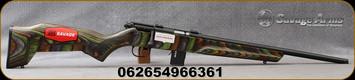 "Savage - 17HMR - Model 93R17 Minimalist - Bolt Action Rimfire Rifle - Green Minimalist Laminate Stock/Black Finish, 18""Threaded Barrel, 10 Round Capacity, Mfg# 96636"