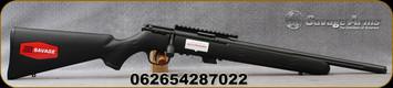 "Savage - 22LR - Mark II FV-SR - Bolt Action Rifle - Black Synthetic Stock/Black Finish, 16.5"" Barrel, 5 Round Detachable Magazine, Mfg# 28702"