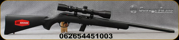 """Savage - 22LR - Model 64FXP - Semi Auto Rifle - Matte Black Synthetic Stock/Blued Barrel, 20.5""""Barrel, 10 Round Detachable Magazine, Factory mounted and bore-sighted 3-9x40mm Weaver scope, Mfg# 45100"""