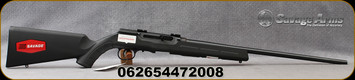 "Savage - 22LR - Model A22 - Semi Auto Rifle - Black Synthetic Stock/Matte Black, 21"" button-rifled barrel, 10 Round Detachable Rotary Magazine, Mfg# 47200"
