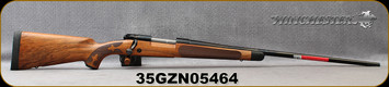 "Winchester - 264WM - Model 70 Super Grade AAA French - Bolt Action Rifle - Grade AAA French Walnut w/Shadowline cheekpiece/Polished Blued Finish, 26"" Barrel, 3 Round Hinged Floorplate, Adjustable Trigger, Mfg# 535239229, S/N 35GZN05464"