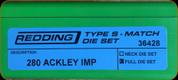 Redding - Type S-Match Full Die Set - 280 Ackley Improved - 36428