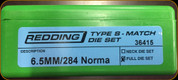 Redding - Type S-Match Die Set - 6.5mm/284 Norma - 36415