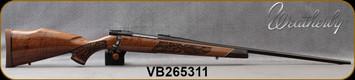 "Weatherby - 300WinMag - Vanguard Lazerguard - AA-grade Claro Walnut, Lazer engraved w/traditional oak leaf pattern/Blued, 26""Barrel, #2 Contour, Adjustable Match Quality, Two-stage Trigger, 1:10"", Mfg# VGZ300NR6O, S/N VB265311"