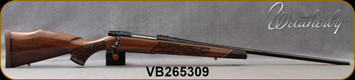 "Weatherby - 300WinMag - Vanguard Lazerguard - AA-grade Claro Walnut, Lazer engraved w/traditional oak leaf pattern/Blued, 26""Barrel, #2 Contour, Adjustable Match Quality, Two-stage Trigger, 1:10"", Mfg# VGZ300NR6O, S/N VB265309"