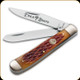 "Boker Manufaktur - Traditional Series Trapper - 2 Blades - 3.125"" Blade - Stainless Steel - Brown Bone Handle -  110732"